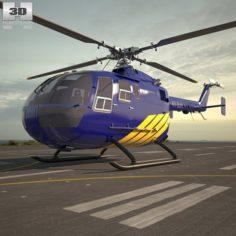 MBB Bo 105 3D Model