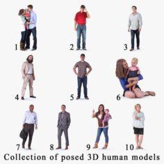 Posed 3D Human 10 3D Model