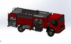Fire truck full set model 3D Model