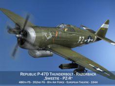 Republic P-47D Thunderbolt – Sweetie – PZ-R 3D Model