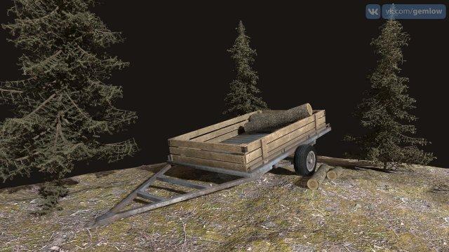 Car trailer 3D Model