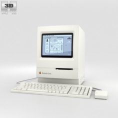 Apple Macintosh Classic 3D Model