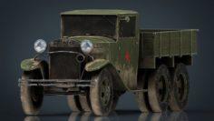 GAZZ AA TRUCK DIRT 3D Model