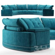Andrew round sectional velvet sofa – Fendi Casa                                      3D Model