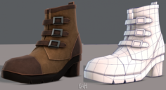 Shoes cartoonV03 3D Model