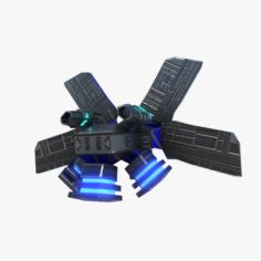 Anti gravity drone 3D Model