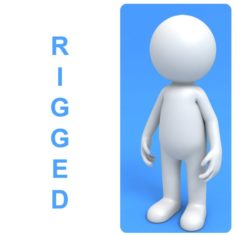 Rigged Stick Man 3D Model
