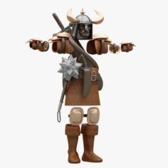Warrior Cloth 3D Model