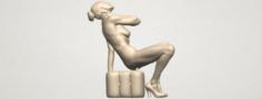 Naked Girl B09 3D Model