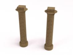 Customizable Egyptian Pillar 3D Model