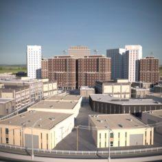 City Scape 01 3D Model