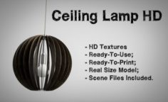 Ceiling Lamp HD Textures 3D Model