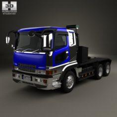 Mitsubishi Fuso Super Great FP Tractor Truck 1996 3D Model