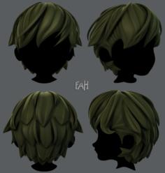 3D Hair style for boy V22 3D Model