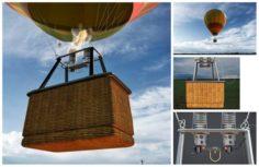 Hot air balloon 3D Model