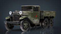 GAZZ AAA TRUCK WINTER 3D Model