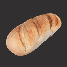 White Loaf of Bread 3D Model