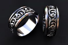 Ring with patterns 3D Model