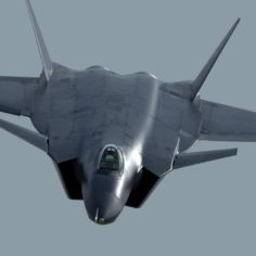 Chinese Air Force Chengdu J-20 Stealth Fighter 3D Model