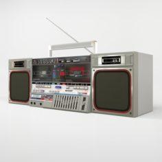 Sharp GF-800ZS Boombox 3D Model