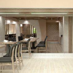 Restaurant Interior 05 3D Model