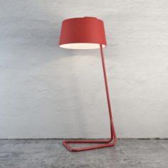 Red Floor Lamp 3D Model