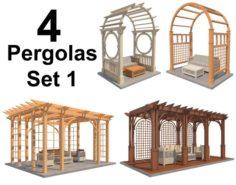 4 Pergolas Set 1 3D Model