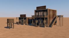 Western saloon 3D Model