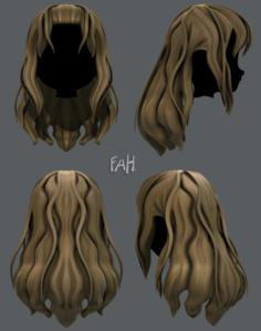3D Hair style for girl V23 3D Model