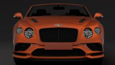Bentley Continental Supersport Convertible 2018 3D Model
