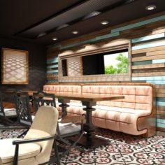 Cafe Interior 15 3D Model