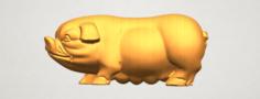 Pig 01 Female 3D Model