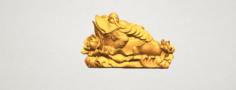 The Golden Toad 3D Model