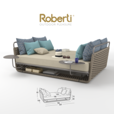 Roberti Portofino DAY BEDS small 3D Model