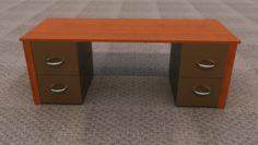 An office desk 3D Model
