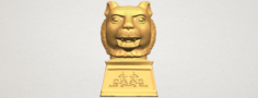 Chinese Horoscope of Tiger 02 3D Model