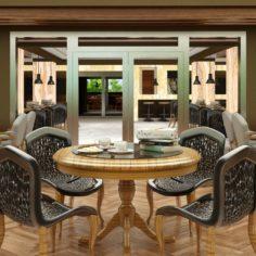 Restaurant Interior 04 V1 3D Model