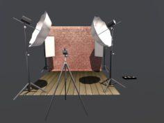 Studio Photography 3D Model