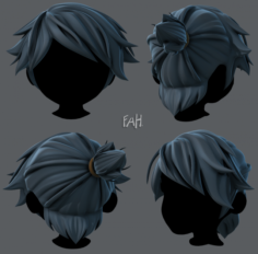 3D Hair style for boy V26 3D Model