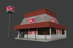 Jack In The Box Restaurant 3D Model