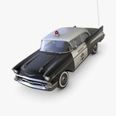 Chevrolet Bel Air 1957 Sheriff 3D Model