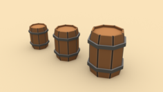 Wooden Barrel – ED 1 3D Model