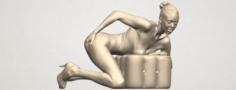 Naked Girl B01 3D Model