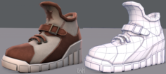Shoes cartoonV10 3D Model