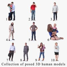 10 high resolution s of Posed Humans 3D Model
