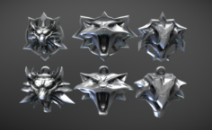 Witcher Amulets 3D Model