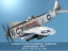 Republic P-47D Thunderbolt – Chickenbones 3D Model