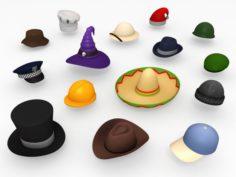 Hat Pack 3D Model