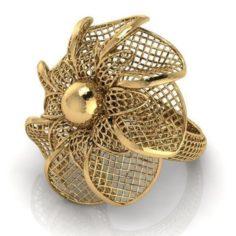 Flower ring 3 3D Model