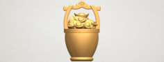 Gold in Bucket 3D Model